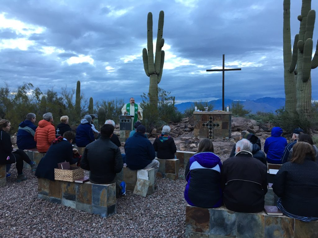 Outdoor Mass with Father James
